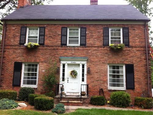 front door color on brick home. Black Bedroom Furniture Sets. Home Design Ideas
