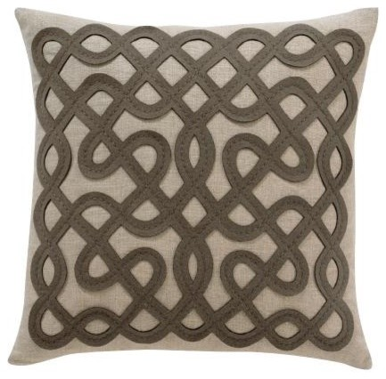 Labryinth Ash Pillow contemporary-decorative-pillows