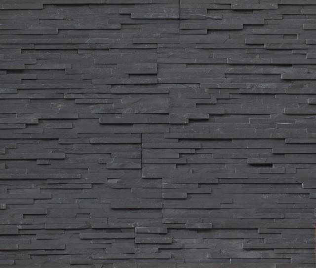 Realstone Systems Thin Charcoal Shadowstone, natural stone veneer - Contemporary - Siding And ...