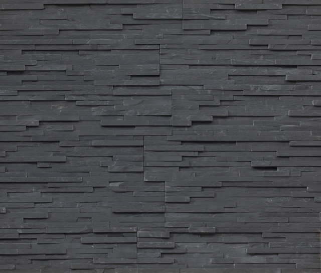 Thin Charcoal Shadowstone 9 R Stacked stone, natural stone veneer contemporary-home-decor