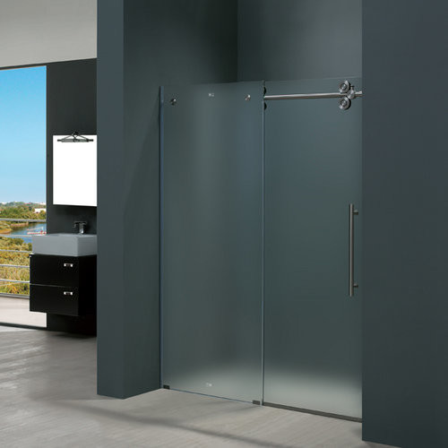 Vigo Vg6041stmt6074r Frosted Glass Stainless Steel Shower Enclosures Contemporary Shower