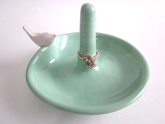 Ring Dish Jewelry Holder by Darrielle's Clay Art modern-bath-and-spa-accessories