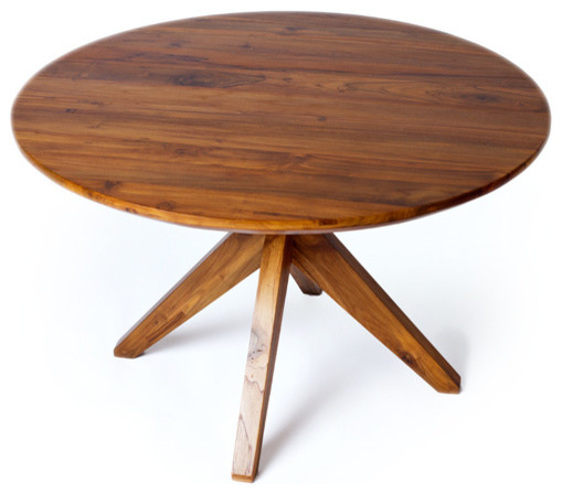 Fontaine dining table reclaimed teak wood modern for Reclaimed wood furniture san francisco
