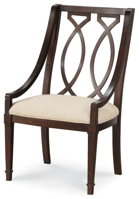 A r t furniture intrigue wood back arm chair