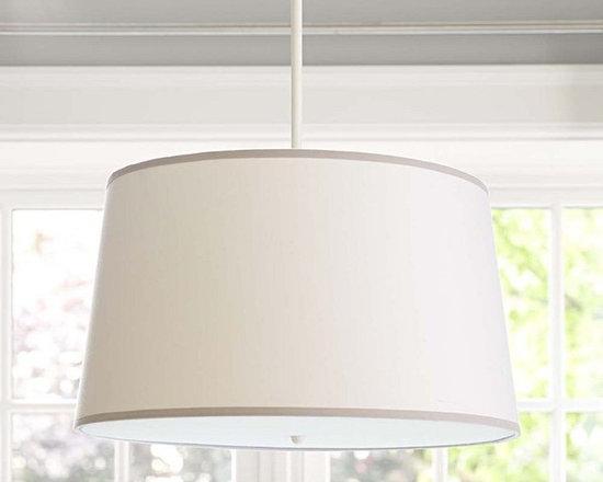 White/Gray Drum Flush Mount Light -