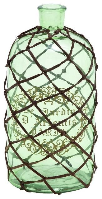 Glass bottle vase net le jardin de artemis home kitchen for Artemis decoration