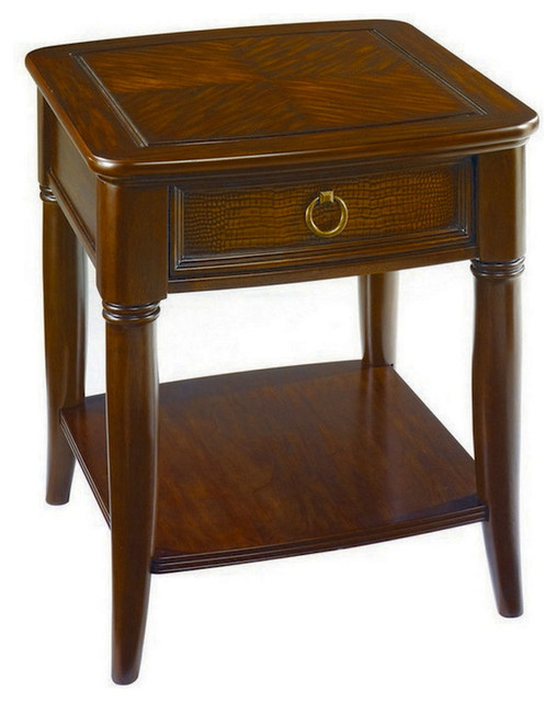 Hammary magellan 1 drawer end table traditional side tables and end tables by beyond stores Traditional coffee tables and end tables