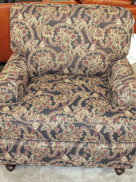 Customer Custom Orders - King Hickory Chatham Chair- You Choose (4) Arm Styles and Skirt or Legs.  You Choose the Fabric