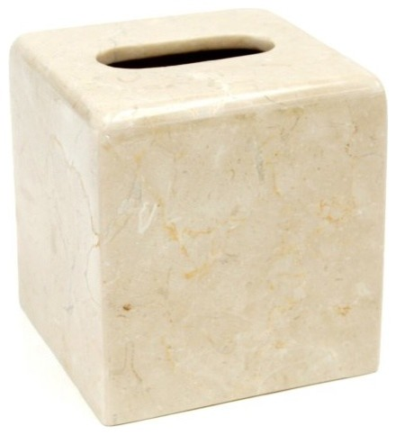 Creative Home Curvy Marble Tissue Box Holder traditional-toilet-accessories