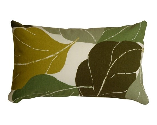 Pillow Decor - Pillow Decor - Autumn Leaves 12 x 20 Green Throw Pillow - Add bold color and nature to your decor with the Fallen Leaves Decorative Throw Pillow in Green. The multiple shades of Green in this pillow are equally balanced, giving you the flexibility to pull together several similar accent colors within your space.