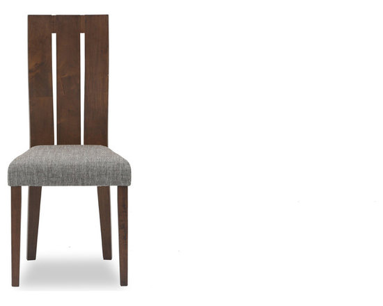 Bryght - Vonnie Fabric Upholstered Dining Chair - This simple yet elegant wood dining chair centers on its intricately curved whole-piece backrest ensuring a comfortable fit for anyone, anytime. With its classic tapered legs and modern wide slat back design, the Vonnie dining chair is sure to meet all your dining needs.