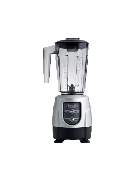 OMEGA PRODUCTS INC. - Omega One HP BL330 Two Speed Blender,Silver - Omega One HP BL330 Two Speed Blender combines control and capacity in a compact design. This efficient one horsepower motor blender can mix a variety of ingredients to make creams, soups, smoothies and iced beverages with ease and control.