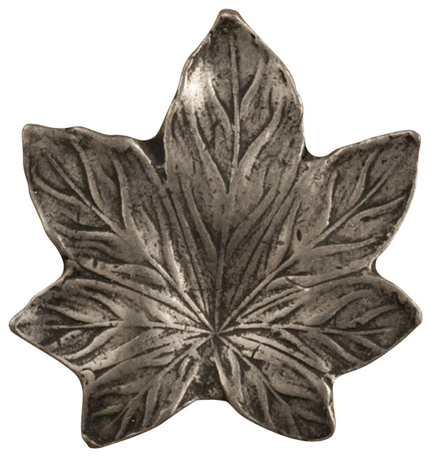 Maple Leaf - Small Knob (Set of 10) (Pewter Terra Cotta) traditional-cabinet-and-drawer-knobs