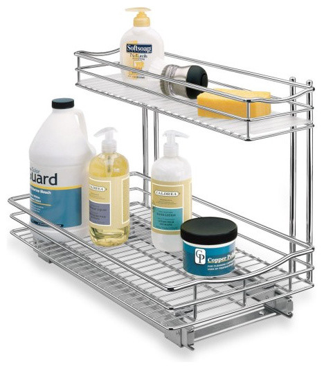 Roll-Out Under-Sink Drawer contemporary-pantry-and-cabinet-organizers