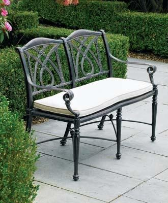 Grand Terrace Bench - traditional - outdoor stools and benches ...