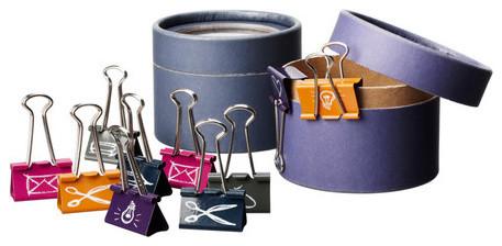 ANSTÄNDIG 10 binder clips with container modern-desk-accessories