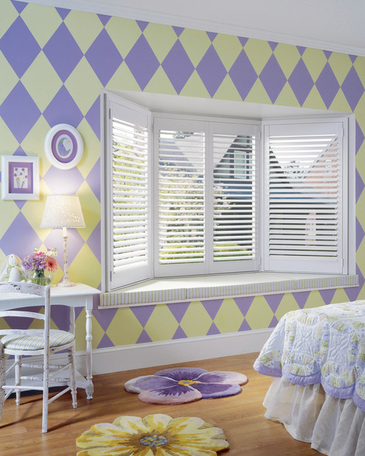 Heritance® hardwood shutters with TruView™ Rear Tilt traditional-window-treatments