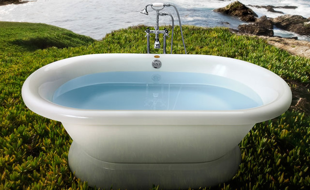 "Jacuzzi Era 7142 Free Standing Double Ended Soaker Tub 71"" x 42"" x 20"" - ERD7142 traditional-bathtubs"