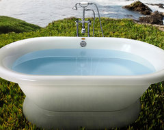 Jacuzzi Era 7142 Free Standing Double Ended Soaker Tub 71 x 42 x 20 - ERD7142 traditional bathtubs