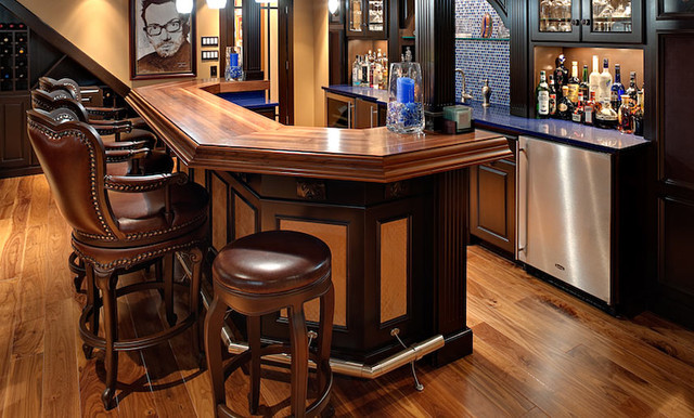 Walnut Wood Bar Top Traditional Kitchen Countertops