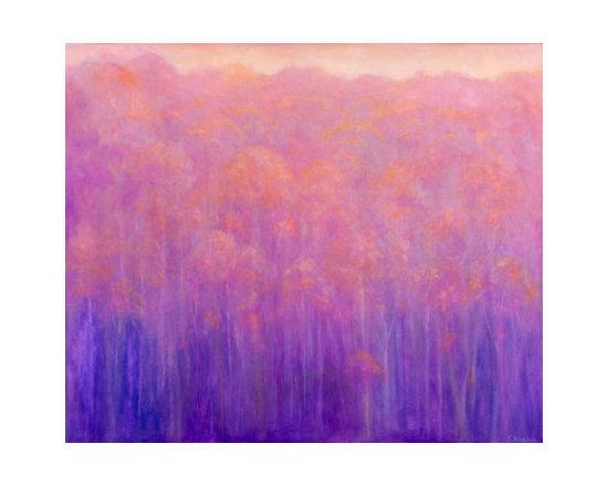 Soft Magenta Hillside    30x36 -