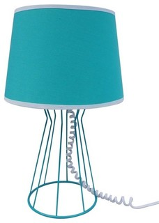 Room Essentials Wired Cage Accent Lamp, Teal - Contemporary - Table Lamps - by Target