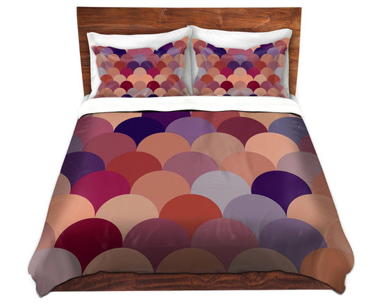 DiaNoche Designs - Duvet Cover Microfiber by Organic Saturation - Tan Scales Pattern - DiaNoche Designs works with artists from around the world to bring unique, artistic products to decorate all aspects of your home.  Super lightweight and extremely soft Premium Microfiber Duvet Cover (only) in sizes Twin, Queen, King.  Shams NOT included.  This duvet is designed to wash upon arrival for maximum softness.   Each duvet starts by looming the fabric and cutting to the size ordered.  The Image is printed and your Duvet Cover is meticulously sewn together with ties in each corner and a hidden zip closure.  All in the USA!!  Poly microfiber top and underside.  Dye Sublimation printing permanently adheres the ink to the material for long life and durability.  Machine Washable cold with light detergent and dry on low.  Product may vary slightly from image.  Shams not included.