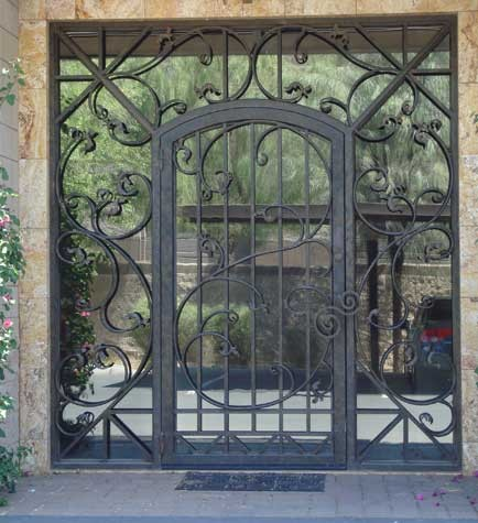 Glass and Iron Front Door contemporary-front-doors