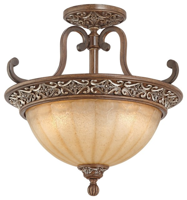 """Traditional Kathy Ireland Sterling Estate Bronze 18"""" Wide Ceiling Light traditional-ceiling-lighting"""