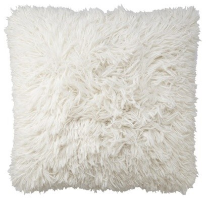 Threshold Long Fur Decorative Pillow - contemporary - pillows - by
