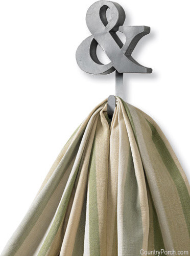 Galvanized & Symbol Single Hook eclectic-hooks-and-hangers