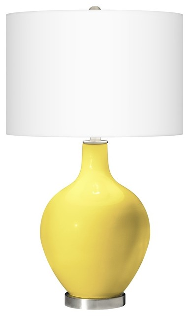 Contemporary Lemon Twist Ovo Table Lamp contemporary-table-lamps