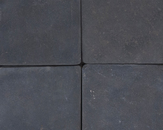 Black 4X4 Tumbled -Mfd Tile - Black 4X4 Tumbled -Mfd