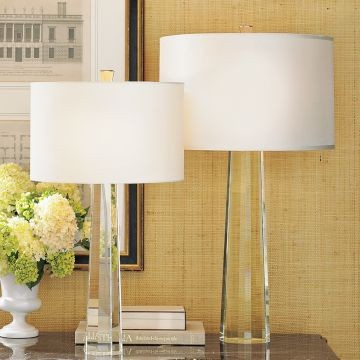 Faceted Crystal Taper Lamps contemporary table lamps