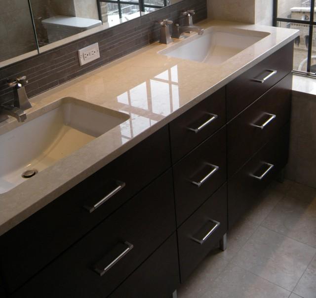 Double Sink 7 Drawer Vanity Modern Bathroom Vanity Units Sink Cabin