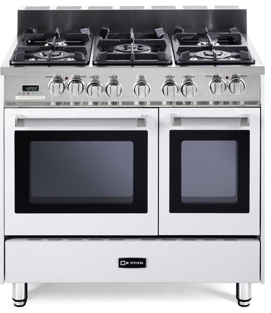 "Verona 36"" Double Oven Dual Fuel Range - Transitional - Gas Ranges And Electric Ranges - new ..."