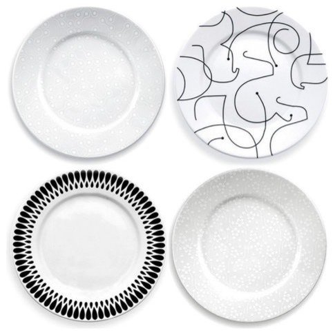 notNeutral In-the-Mix Dinner Plate - Set of 4 contemporary dinnerware