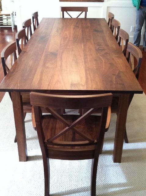 solid walnut mission dining table contemporary dining tables denver by boulder. Black Bedroom Furniture Sets. Home Design Ideas