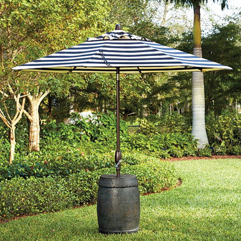 Garden Seat Patio Umbrella Stand - traditional - coat stands and ...