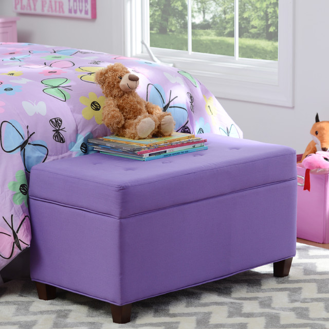 Girls purple storage bench traditional toy organizers other metro by kirkland 39 s Purple storage bench