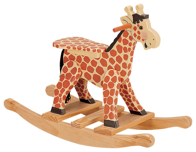 THE SAFARI KIDS GIRAFFE ROCKING HORSE contemporary