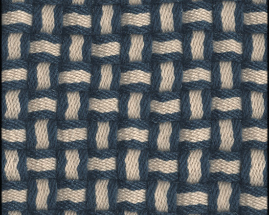 Natural Fiber Rugs & Carpets - Our Barbara Blue White semi-worsted wool rug is self bound all around. It is offered in any size.  All rugs are made to order.  Please allow 12 - 16 weeks for delivery.  Purchase at Hemphill's Rugs & Carpets Orange County, California www.RugsAndCarpets.com