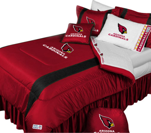 NFL Arizona Cardinals Football Team 5 Piece Queen Bedding