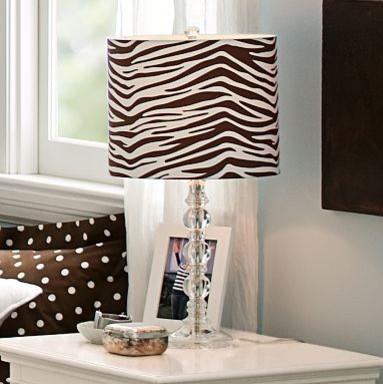 De-Lite Lamp Base + Zebra Shade eclectic table lamps