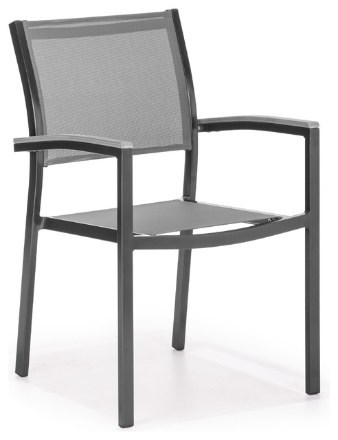 Muni Dining Chair Gray industrial-outdoor-chairs
