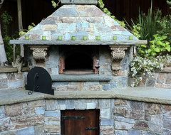 Pizza Oven mediterranean-outdoor-pizza-ovens