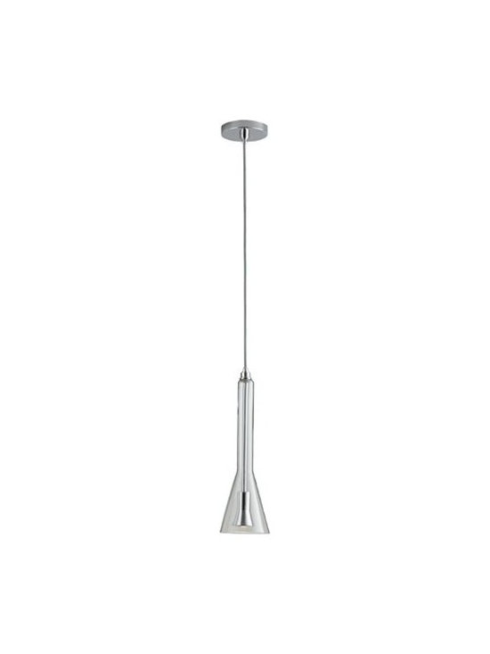 Oxygen Lighting - Oxygen Lighting | Liberty LED Pendant Light - Design by Oxygen Lighting. The Liberty LED Pendant Light is a timeless piece highlighted by its blown glass shade with an alternative bell shape. Suspended from a round metal canopy by a height adjustable cord, the glass diffuser houses the LED light source, which when illuminated, casts light downwards creating direct illumination perfect for use over a bedside table or kitchen counter.  Product Features: