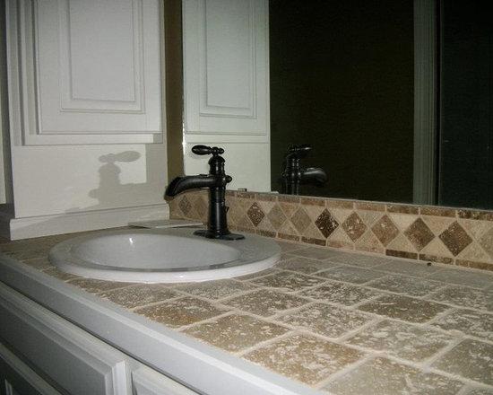 Tile Vanity Top : Tiled vanity tops