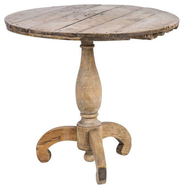 SOLD OUT Rustic Antique Round Wood Pedestal Table  : rustic dining tables from www.houzz.com size 622 x 640 jpeg 56kB