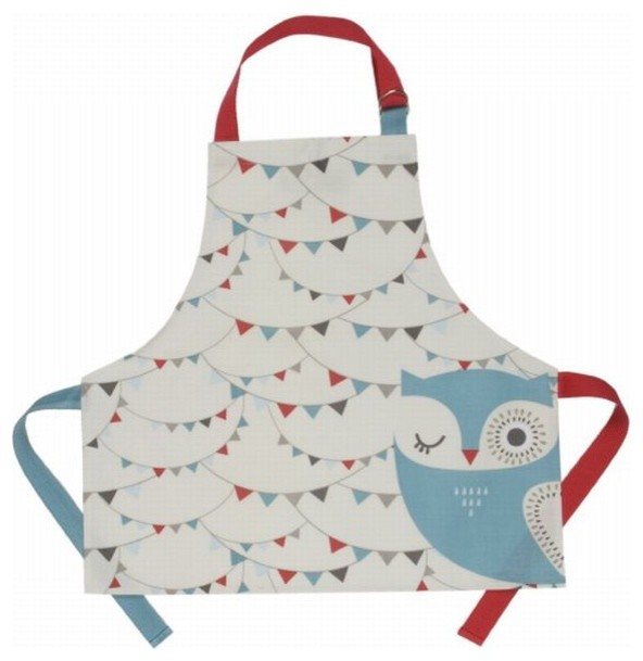 Hoot Laminated Kids' Apron by Danica Studios modern-kids-products